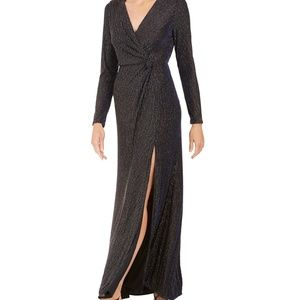 NWT Nightway Knot-Waist Gown High Slit